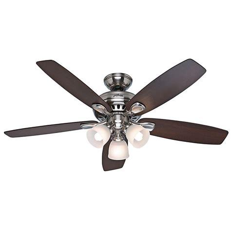hunter highbury ceiling fan hunter highbury 52 in indoor brushed nickel ceiling fan