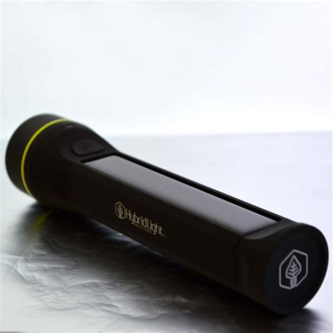 Hybrid Solar Flashlight Model 250 Out And About Green Hybrid Light Solar Flashlight