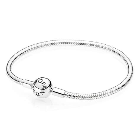 pandora moments smooth silver clasp bracelet 590728 from gift and wrap uk