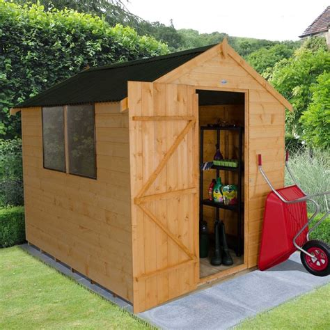 Shiplap Roof by Forest Garden 6 X 8 Shiplap Dip Treated Onduline Roof Shed