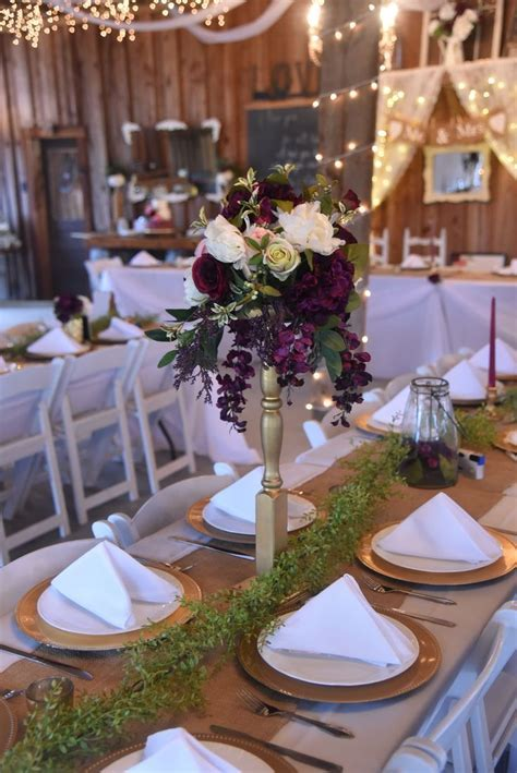 Best 20  Plum wedding centerpieces ideas on Pinterest