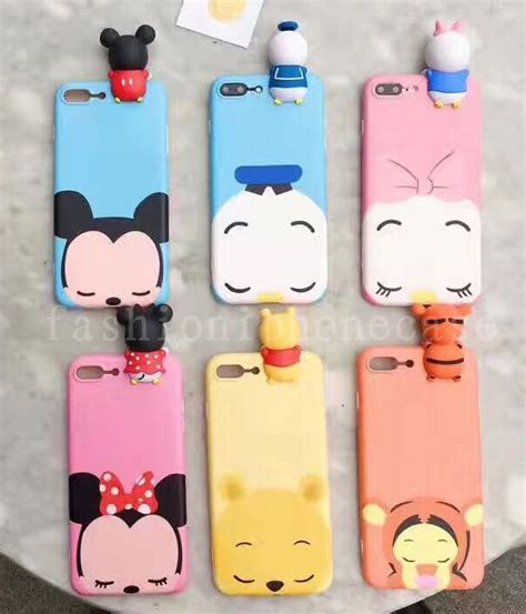 Iphone 7 3d Fashion Model Phone Cover T1910 2 3d s fashion disney soft tpu back cover for iphone 6 6s 7 7 plus ebay