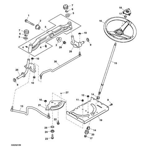 deere d110 parts diagram deere d100 series steering parts sn post 700000