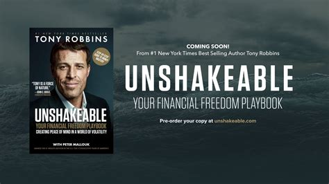 Unshakeable Your Financial Freedom Playbook tony robbins on quot excited to announce my new book