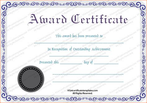 awards certificate template 8 awards certificate template bookletemplate org