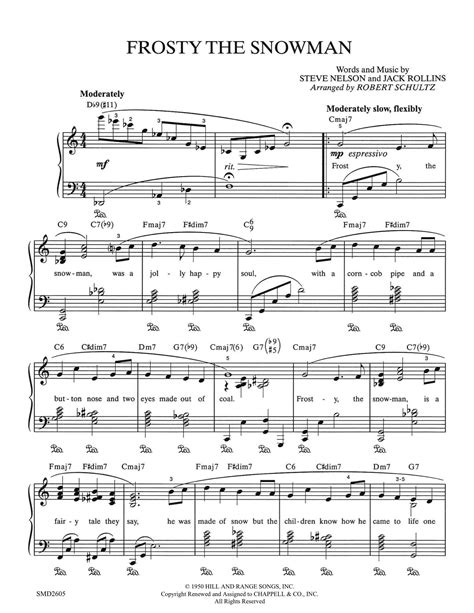 frosty snowman lyrics printable version frosty the snowman schultz music publications