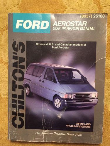 car owners manuals free downloads 1986 ford aerostar on board diagnostic system sell ford aerostar 1986 96 repair manual motorcycle in elmhurst illinois united states