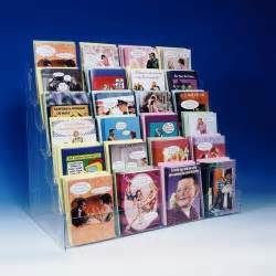 note greeting card display rack new acrylic 6 tier 24
