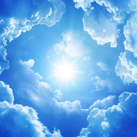 fonds decran ciel nuage soleil nature telecharger photo