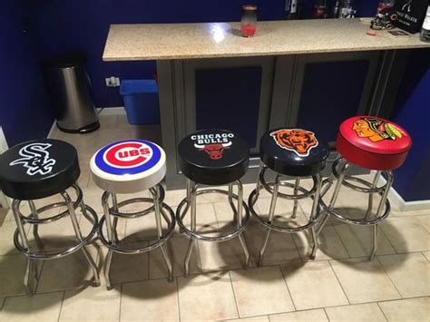 Bar Stools Sports Teams set of 5 chicago sports teams bar stools furniture in