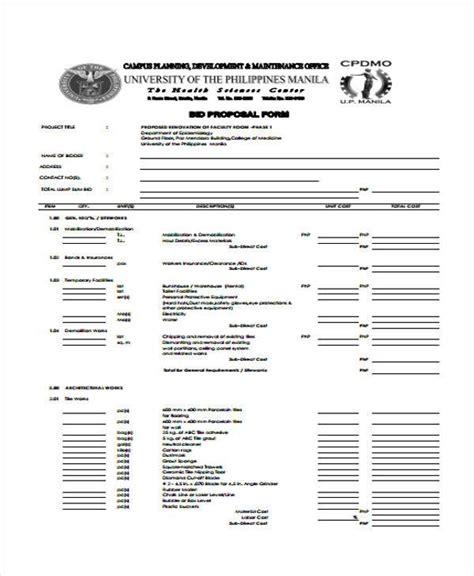 proposal form templates