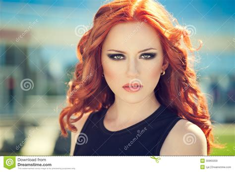 red hair styles for summer red hair girl royalty free stock images image 30965059