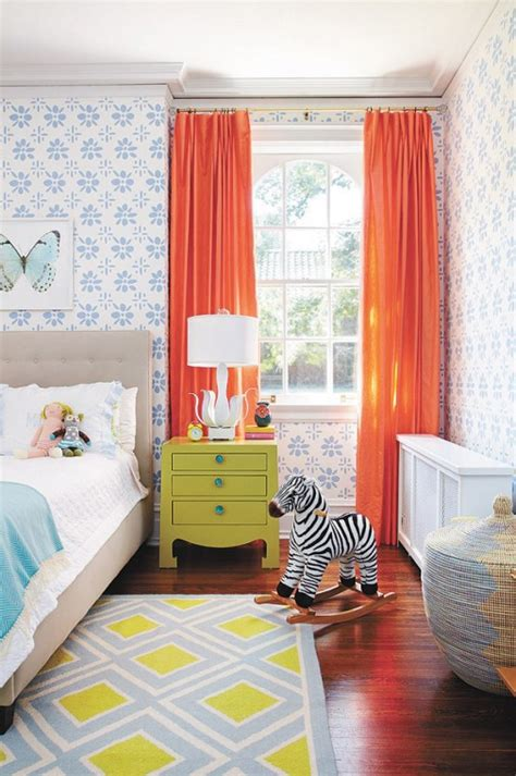 Colorful Bedroom Curtains | best curtains colors for kids room interior decorating