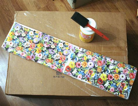 Decoupage With Napkins On Wood - upcycled decoupage sign colorful mantel in