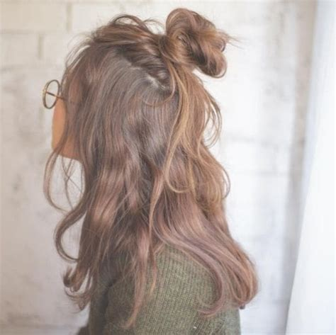 hairstyles half up half down bun 7 insta famous half up half down bun hairstyles you need