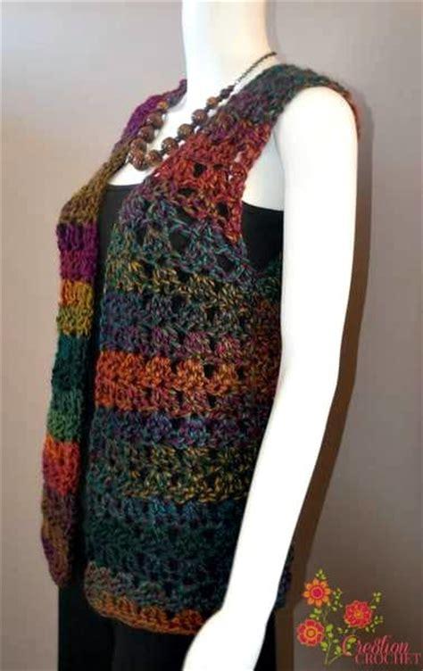 free printable crochet vest patterns pattern unique shell vest cre8tion crochet