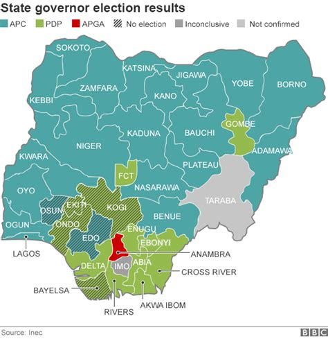 map us governors 2 nigeria s apc win landslide pdp in state polls