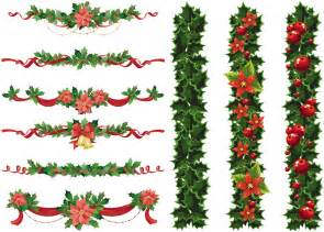 merry garland template vintage garland clipart clipart suggest