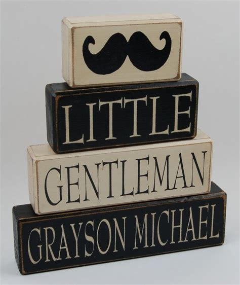 personalized name gentleman bow tie mustache home