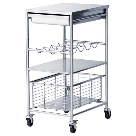 flytta kitchen trolley stainless steel 98x57 cm ikea kitchen islands butchers trolleys blocks ikea