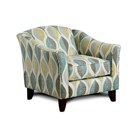 Leaf Pattern Accent Chair | accent chairs living room leaf pattern accent chair