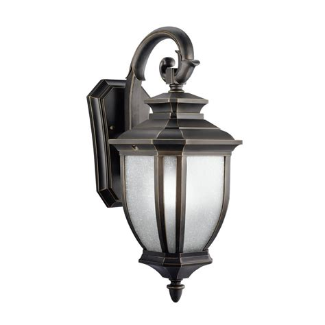Outdoors Lighting Fixtures Kichler Lighting 9040rz Salisbury 1 Light Outdoor Wall Mount Fixture Rubbed Bronze With White