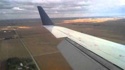 Plane Wings airplane wing on landing