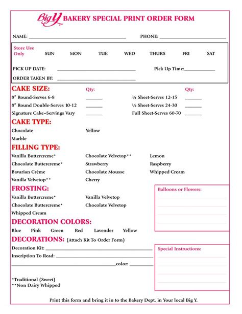 1000 Ideas About Cake Pricing On Pinterest Cake Business Cupcake Prices And Bakery Business Dessert Order Form Template