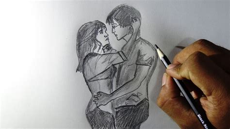 couples in love drawings how to draw couples in love pencil drawing tracing