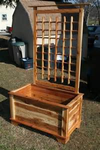planter box and trellis by sufficientwood lumberjocks com woodworking community
