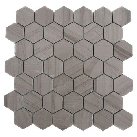 splashback tile athens grey hexagon 12 in x 12 in x 8 mm