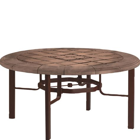 Tropitone 730561swb Tiled Stone Tables Kd Dining Table Tropitone Patio Table