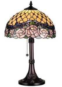 Meyda Tiffany Table Lamp by Meyda 82304 Tiffany Jeweled Rose Accent Lamp