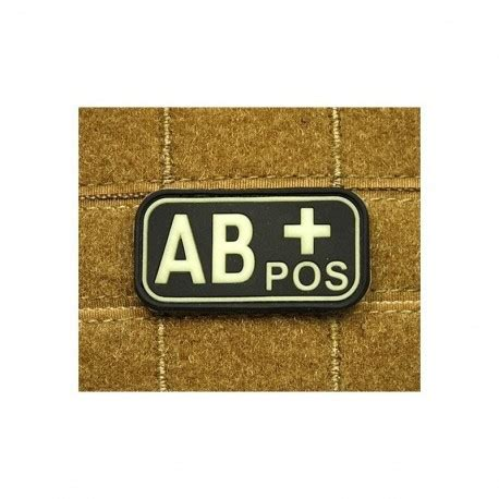 Rubber Pvc Patch Blood Type Ab Pos 1 jtg bloodtype ab pos rubber patch swat softair