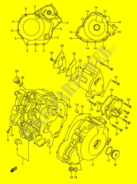 Motorrad Abdeckung Suzuki by Kurbelgeheuse Abdeckung Motor Getriebe Sv1000k4 E2 2004 Sv
