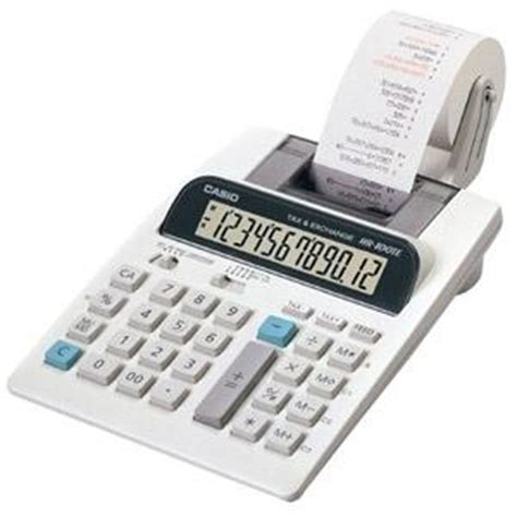 Paket Casio Hr 100 Tm Adaptor casio hr 100tm printing calculator 12 characters
