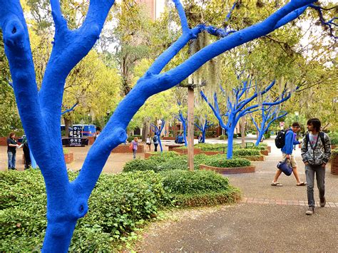 blue trees installation the blue trees kostantin