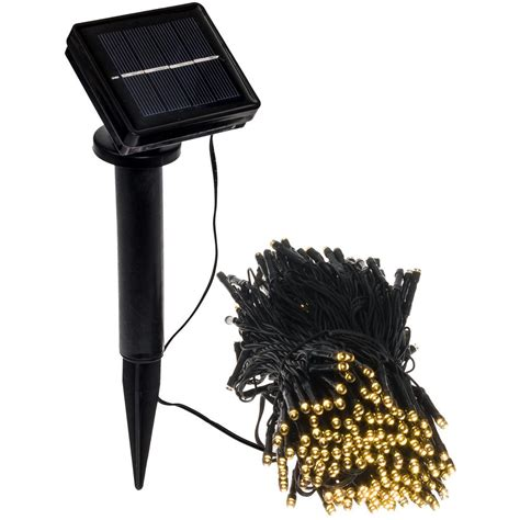 Outdoor Lights Led Greenlighting 250 Light 80 Ft Solar Powered Integrated Led Warm White Outdoor String