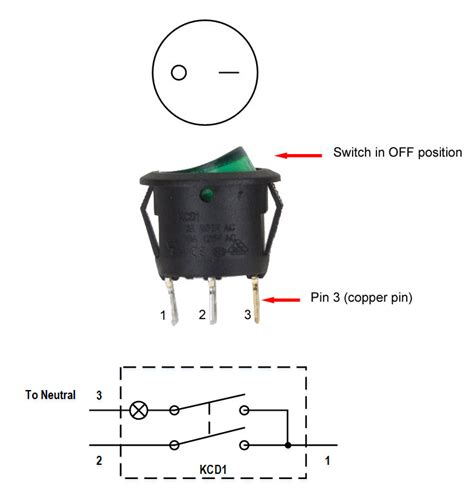 spst lighted rocker switch wiring diagram iron