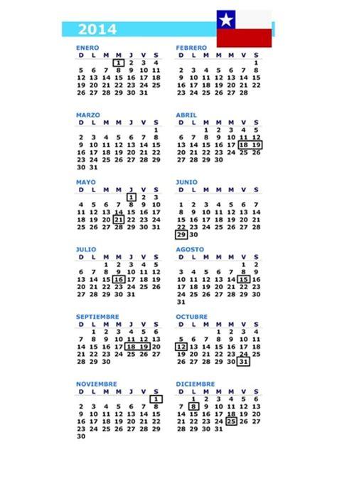 Calendario Chile Calendario D 237 As Feriados Chile 2014 2 3 Rankia