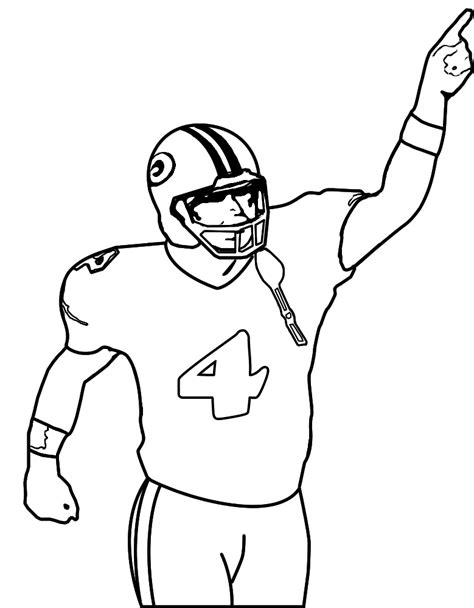 Football Players Coloring Pages Football Player Color Pages