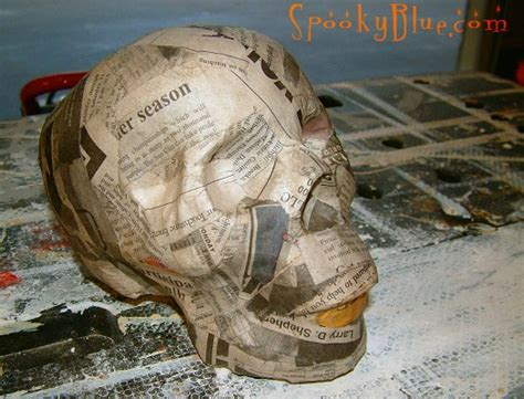 How To Make Paper Mache Smooth - paper mache skulls spookyblue