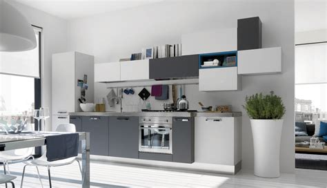 Grey And White Kitchen Ideas | open modern kitchens with few pops of color