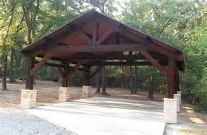 Texas Landscaping Ideas by Cedar Carport In Pilot Point Texas Rustic Garage
