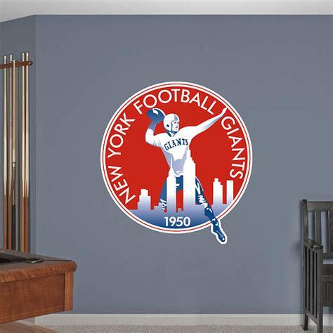 ny giants wall decor new york giants classic logo wall decal shop fathead