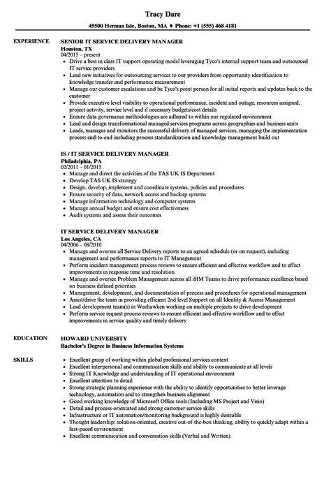 It Service Delivery Manager Resume Sles Velvet Jobs Service Delivery Manager Resume Template