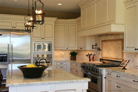 Pictures Of Kitchens Traditional Off White Antique White Antique Kitchen Cabinets