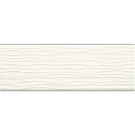 american olean 4 in x 12 in starting line gloss white wavy wall tile lowe s canada 1 58