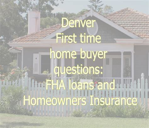 denver time home buyer questions