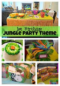 Jungle themed first birthday party